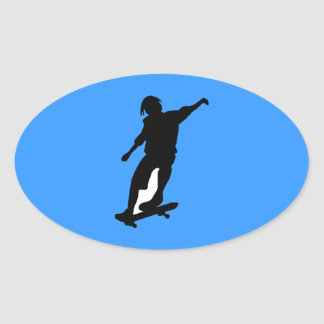 SKATEBOARDER VECTOR GRAPHIC DUDE ICON LOGO SPORTS OVAL STICKERS