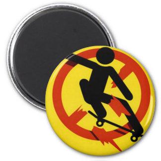 Skateboarding 2 Inch Round Magnet