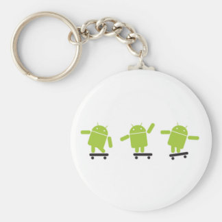 Skateboarding Android Basic Round Button Keychain