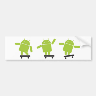 Skateboarding Android Bumper Sticker