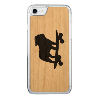 Skateboarding Bulldog Silhouette Carved iPhone 7 Case