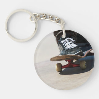 Skateboarding Closeup Keychain