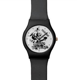 Skateboarding custom watches