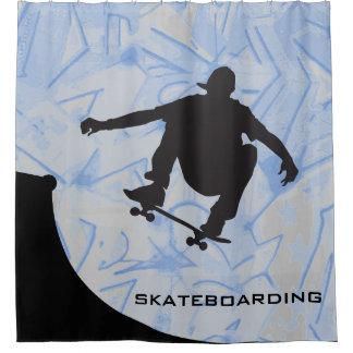 Skateboarding Design Shower Curtain