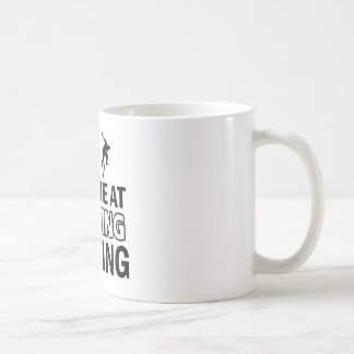 Skateboarding designs classic white coffee mug