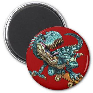 Skateboarding Dinosaur Magnet