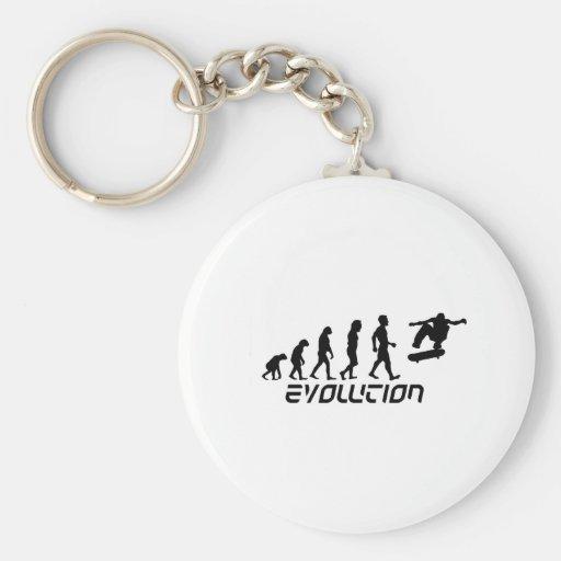 Skateboarding Evolution Key Chains