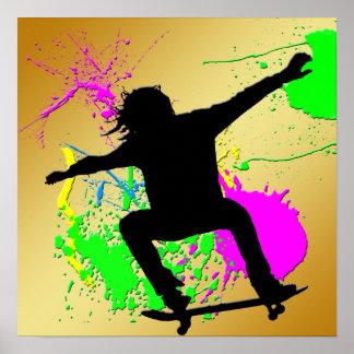 Skateboarding Extream Poster