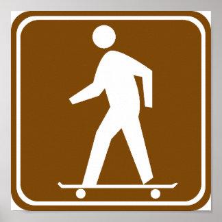 Skateboarding Highway Sign