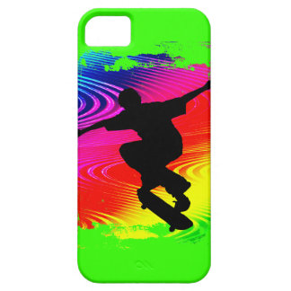 Skateboarding on Rainbow Grunge iPhone 5 Cover