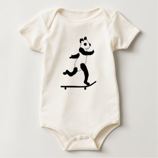 Skateboarding Panda infant t shirts, body suits Baby Bodysuit