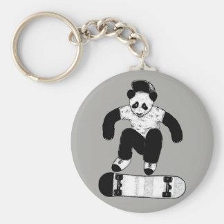 Skateboarding Panda Keychain