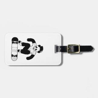 Skateboarding Panda Luggage Tag