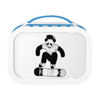 Skateboarding Panda Lunch Box
