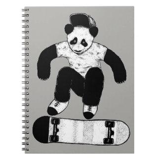 Skateboarding Panda Notebook