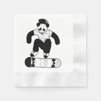 Skateboarding Panda Paper Napkin