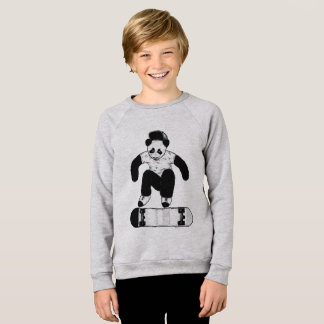 Skateboarding Panda Sweatshirt