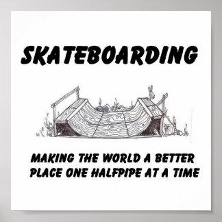 skateboarding philosophy poster