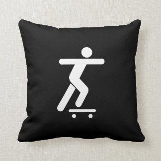 Skateboarding Pictogram Throw Pillow