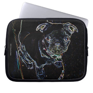 Skateboarding Pug Laptop Case Laptop Sleeve