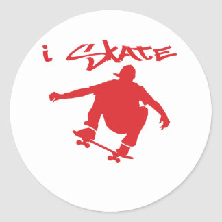 Skateboarding Round Sticker