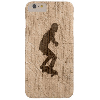 Skateboarding Rustic Scratched Weathered Old Wood Barely There iPhone 6 Plus Case