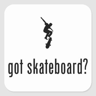 Skateboarding Square Sticker
