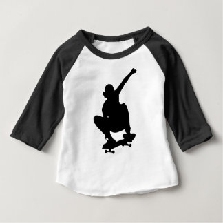 Skateboarding Trick Silhouette Baby T-Shirt
