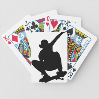 Skateboarding Trick Silhouette Bicycle Playing Cards