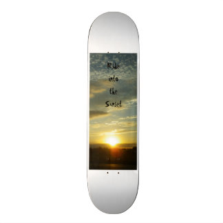 Skateboards Ride into the Sunset