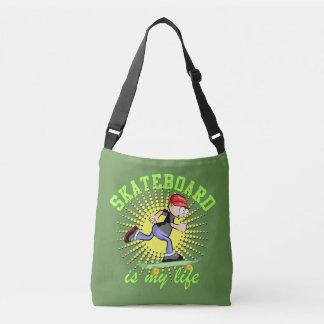 Skatebooard funny lifestyle crossbody bag