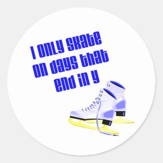 SkateChick Days Classic Round Sticker