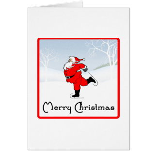 SkateChick Santa Card