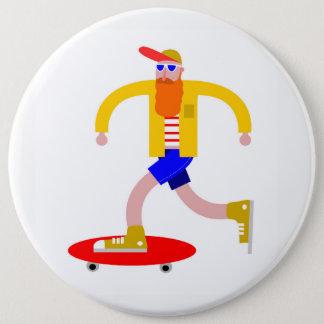 Skater 6 Inch Round Button