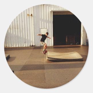 Skater at the SPOT Round Sticker