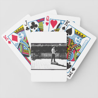 skater boy bicycle playing cards
