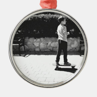 skater boy metal ornament