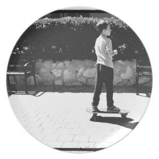skater boy plate