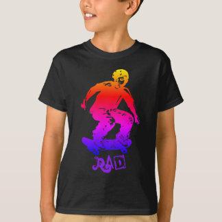 Skater Boy Rad Rainbow Skateboarder T-Shirt