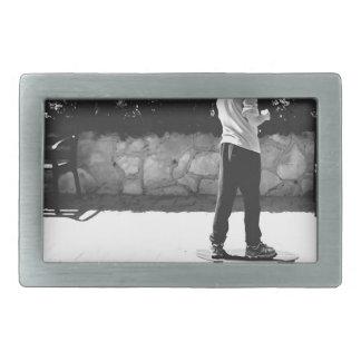 skater boy rectangular belt buckle