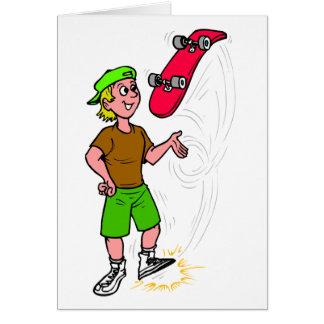 Skater Boy Skateboarding Fun Skateboard Card