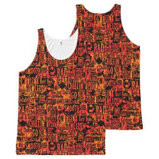 Skater Boy Words Orange All-Over-Print Tank Top