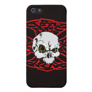 Skater Ctoss and skull Case For iPhone 5/5S