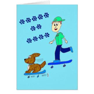 Skater doggy card