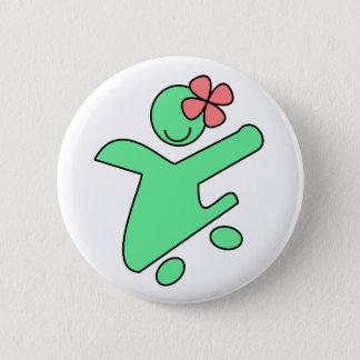 Skater girl button pin