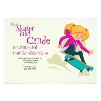 Skater Girl Invitation