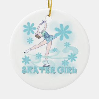 Skater Girl Tshirts and Gifts Ceramic Ornament