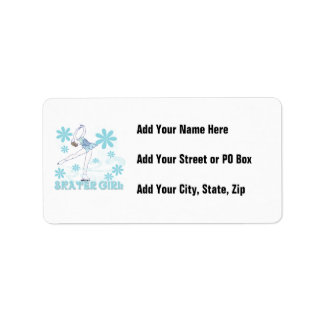 Skater Girl Tshirts and Gifts Custom Address Label