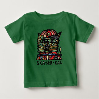 """Skater Kat"" BuddaKats Baby Fine Jersey T-Shirt"