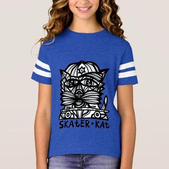 """""""Skater Kat"""" Girls' Sport Tshirt"""